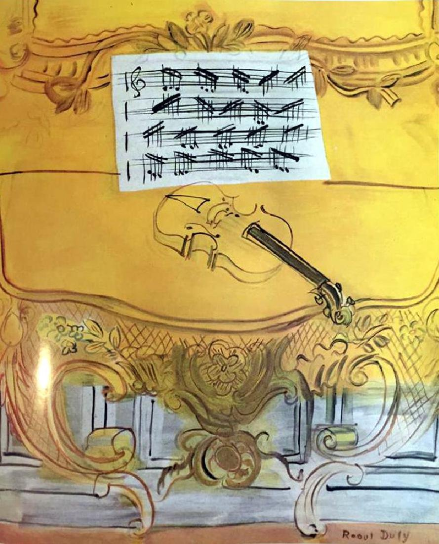 Raoul Dufy Yellow Console with Violin c.1949 Fine Art - 2