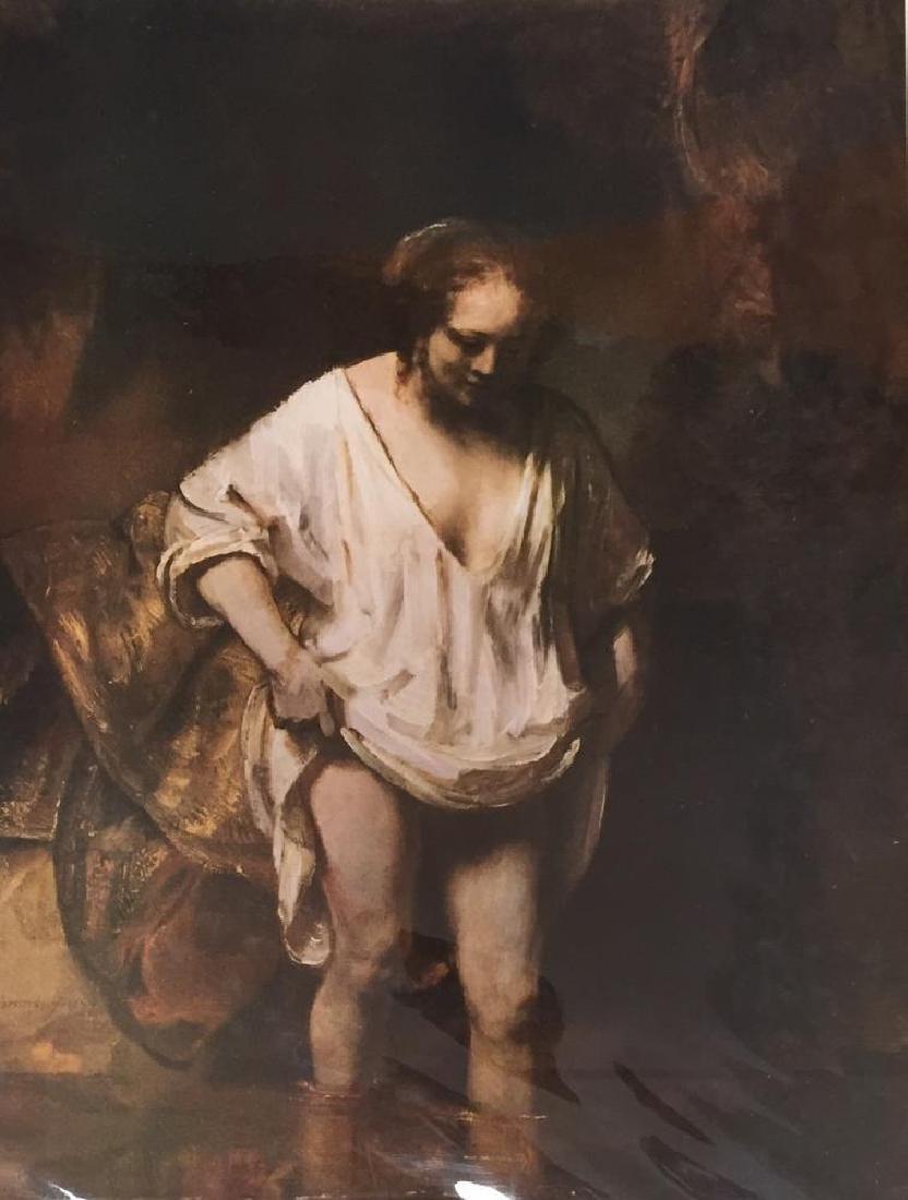 Rembrandt A Woman Bathing c.1654 Fine Art Print Signed - 2