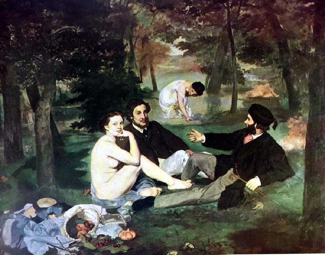 Edouard Manet Luncheon on the Grass c.1863 Fine Art - 2