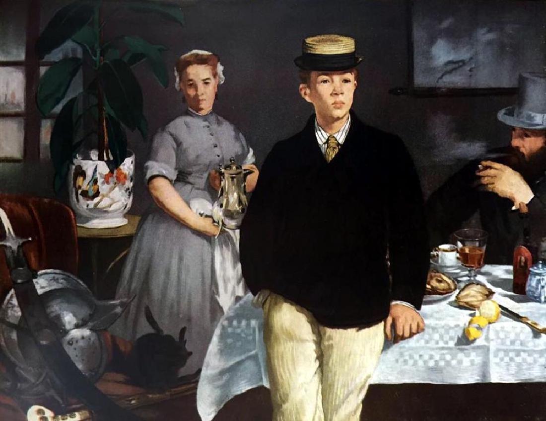 Edouard Manet Luncheon in the Studio c.1868 Fine Art - 2