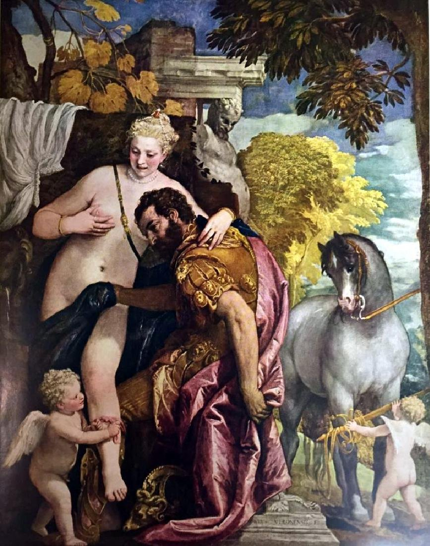 Masterpieces Veronese: Mars and Venus United by Love - 2
