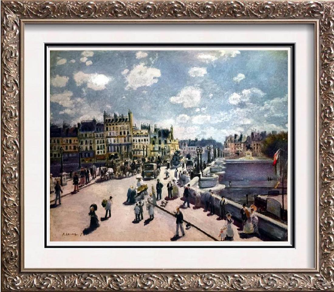 Manet, Edouard Pont Neuf c.1872 Fine Art Print Signed