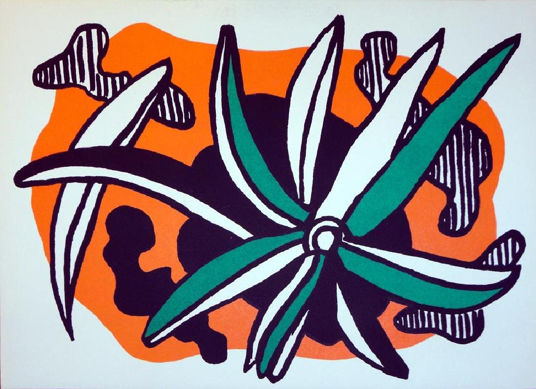 Fernand Leger Rare Colored Litho from Special Issue of - 2