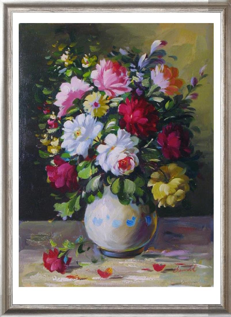 Still Life Only Oil Painting On Canvas