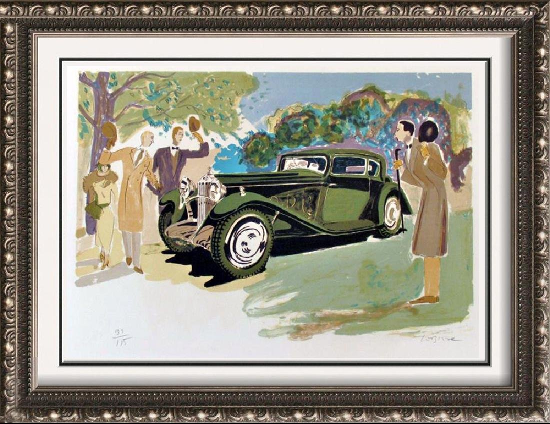 Delage Hand Signed Rare Car Auto Art Limited Edition