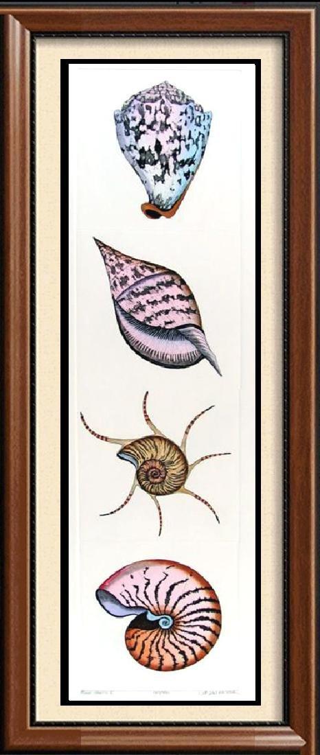 Irises Colored Etching Signed Ltd Ed Mitra Liquidation