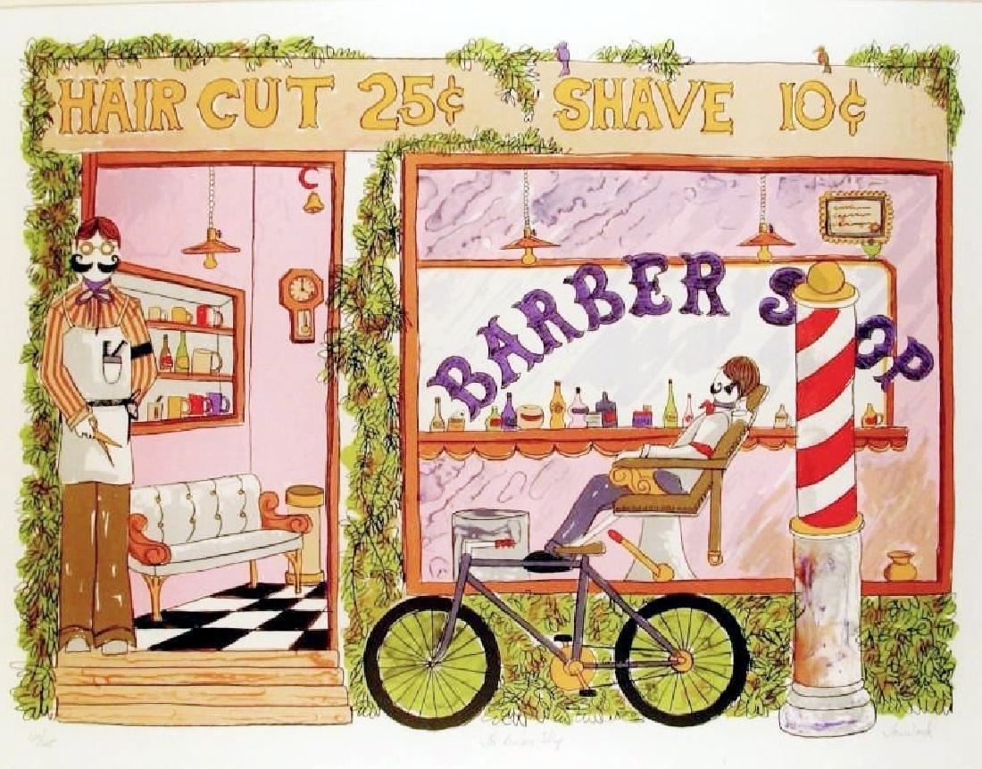 Barber Shop Nostalgia Art Ltd Ed Signed Sale - 2