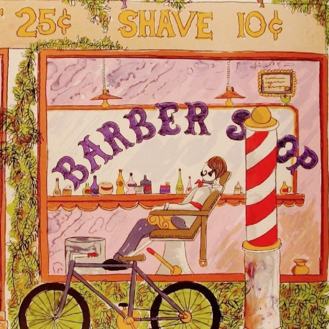Barber Shop Nostalgia Art Ltd Ed Signed Sale - 4