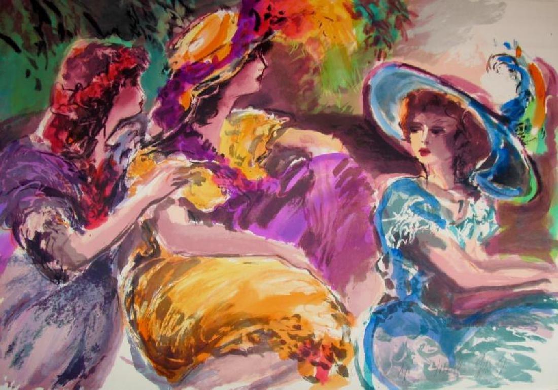 Huge 3 Women Maimon-Tarkay-Style Ltd Ed Signed Flantz - 2