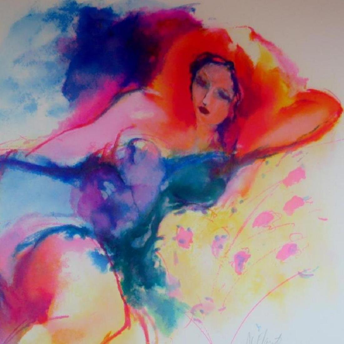 Woman On Couch Colorful Signed Limited Edition Sale - 3