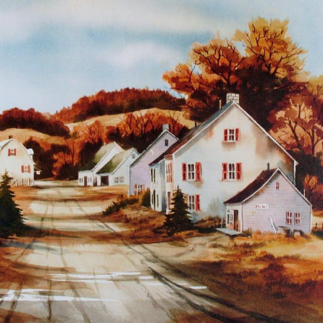 Country Road Beautiful Scene Watercolor Style Realism - 2