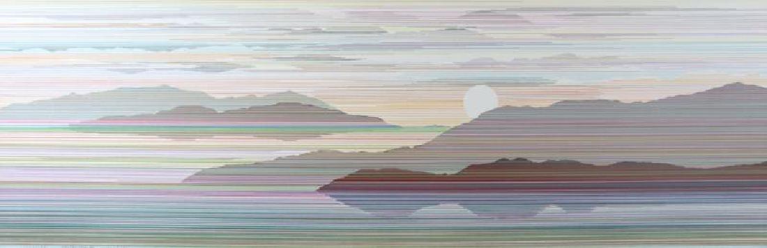 Reflection Linear Modern Abstract Art Dealer - 2