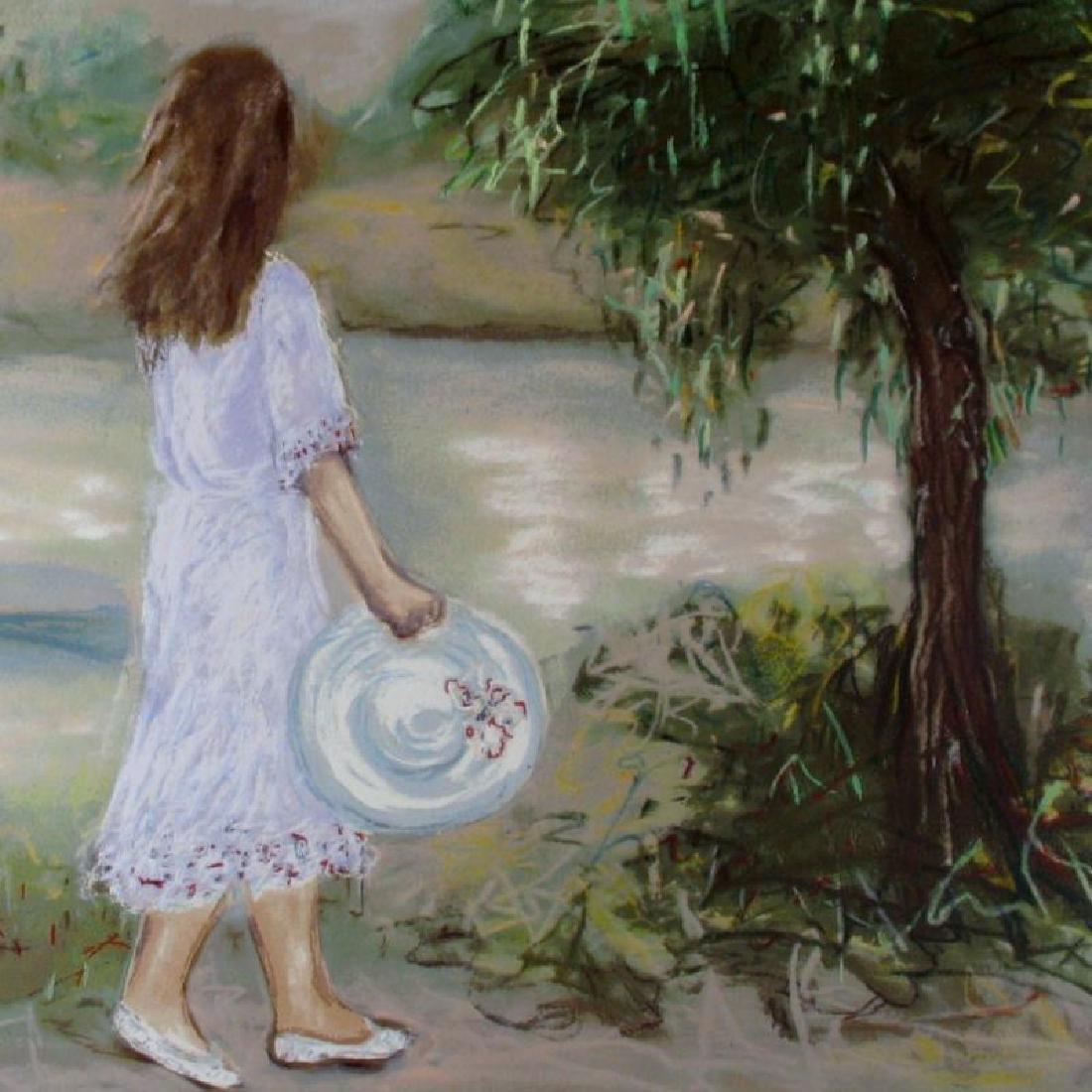 Landscape Impressionism Girl With Hat Dealer Liquidates - 3