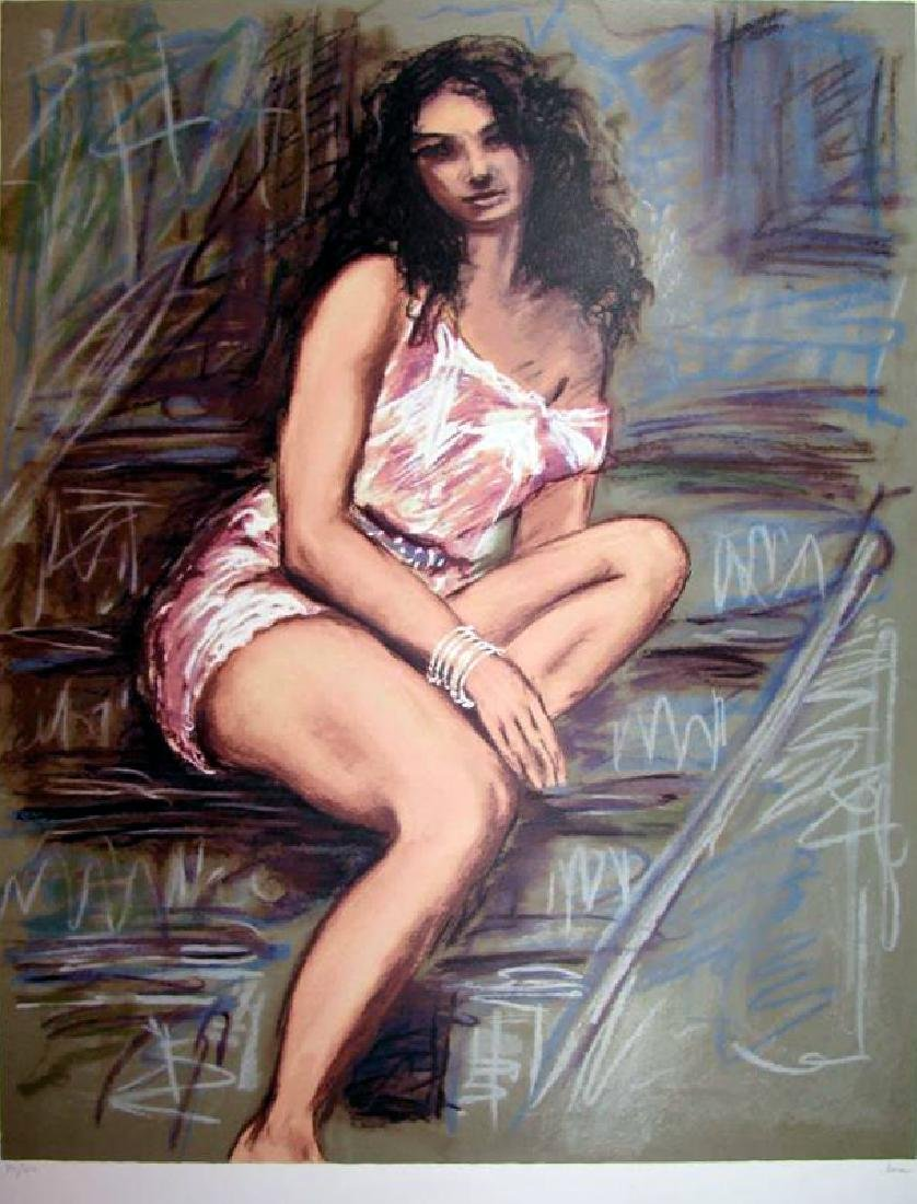 Sensual Woman Impressionism Limited Ed Signed Art Sale - 2