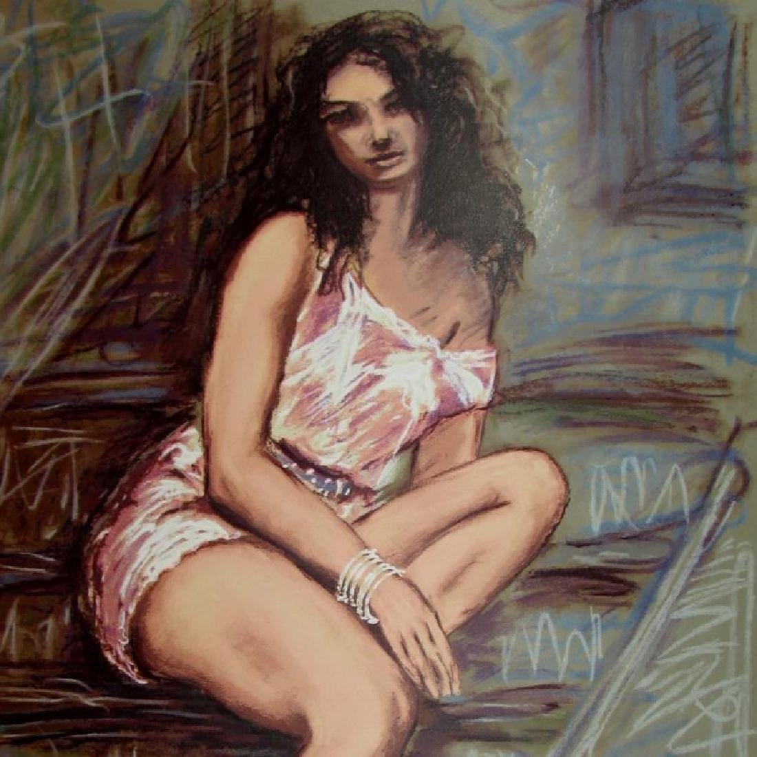 Sensual Woman Impressionism Limited Ed Signed Art Sale - 4
