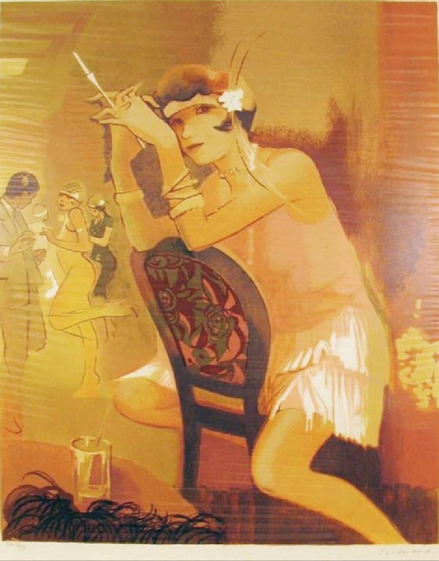 Charleston Girl Art Deco Maimon Style Art - 2
