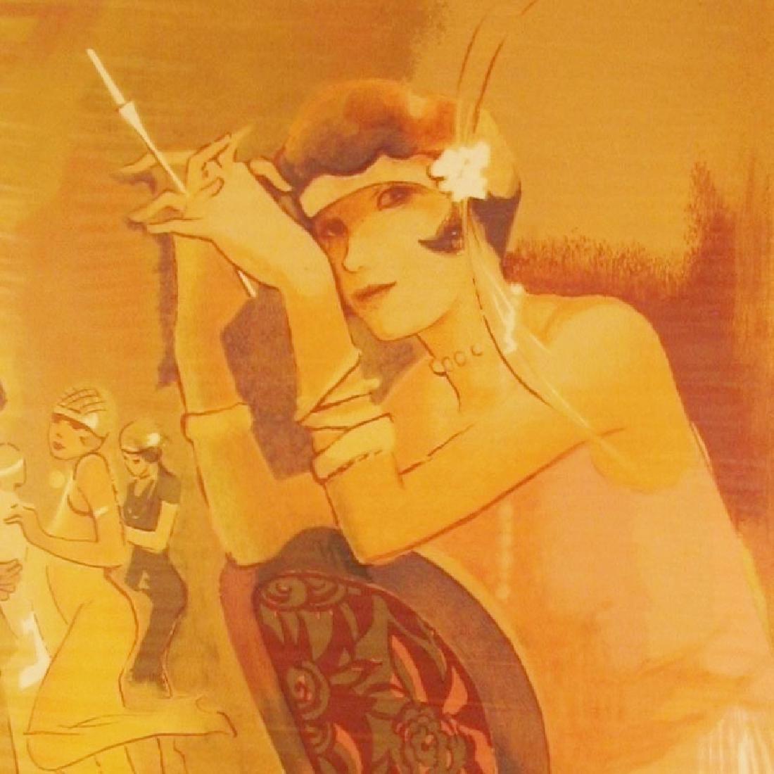 Charleston Girl Art Deco Maimon Style Art - 3
