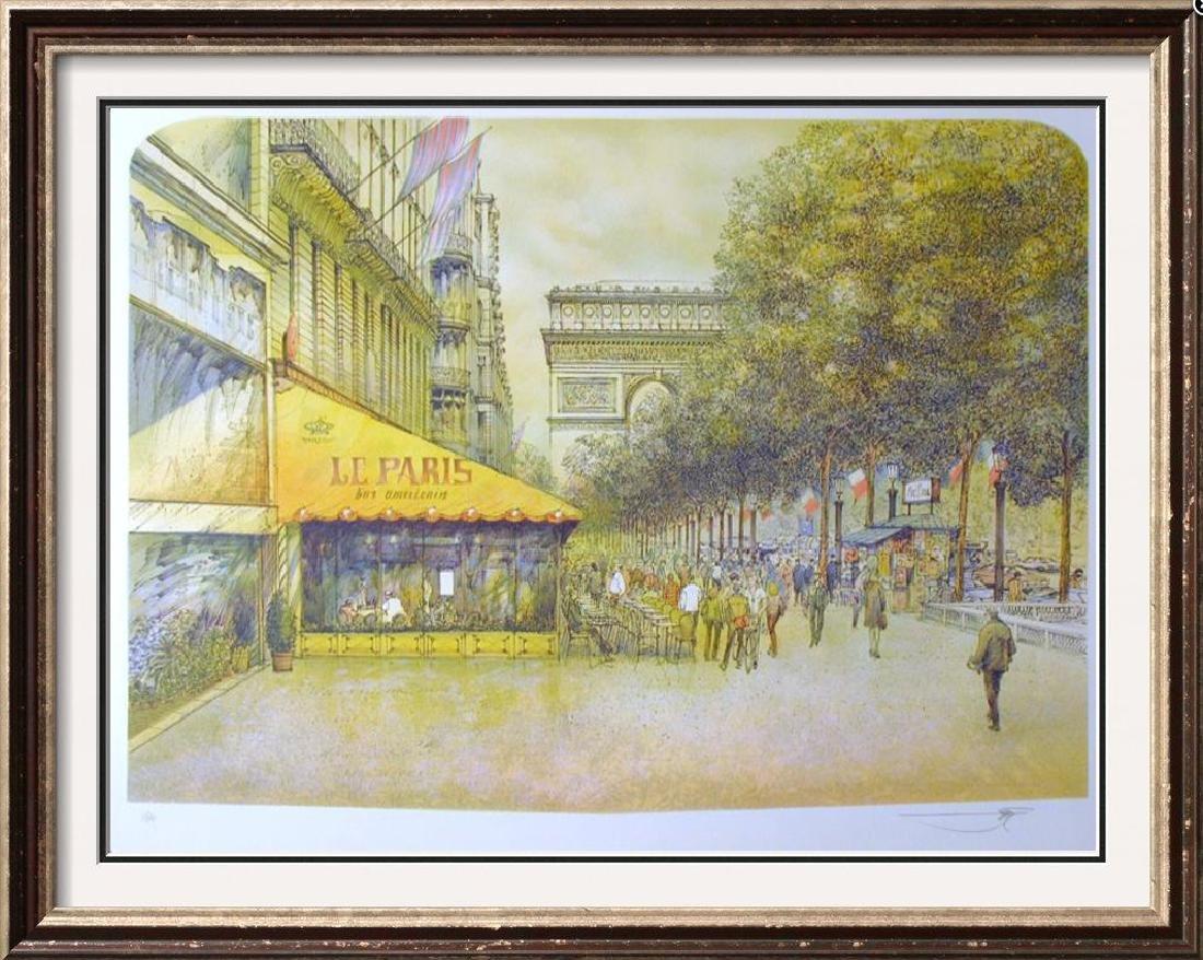 PARIS SCENE ARCHITECTUAL STYLE REALISTIC COLORFUL ART