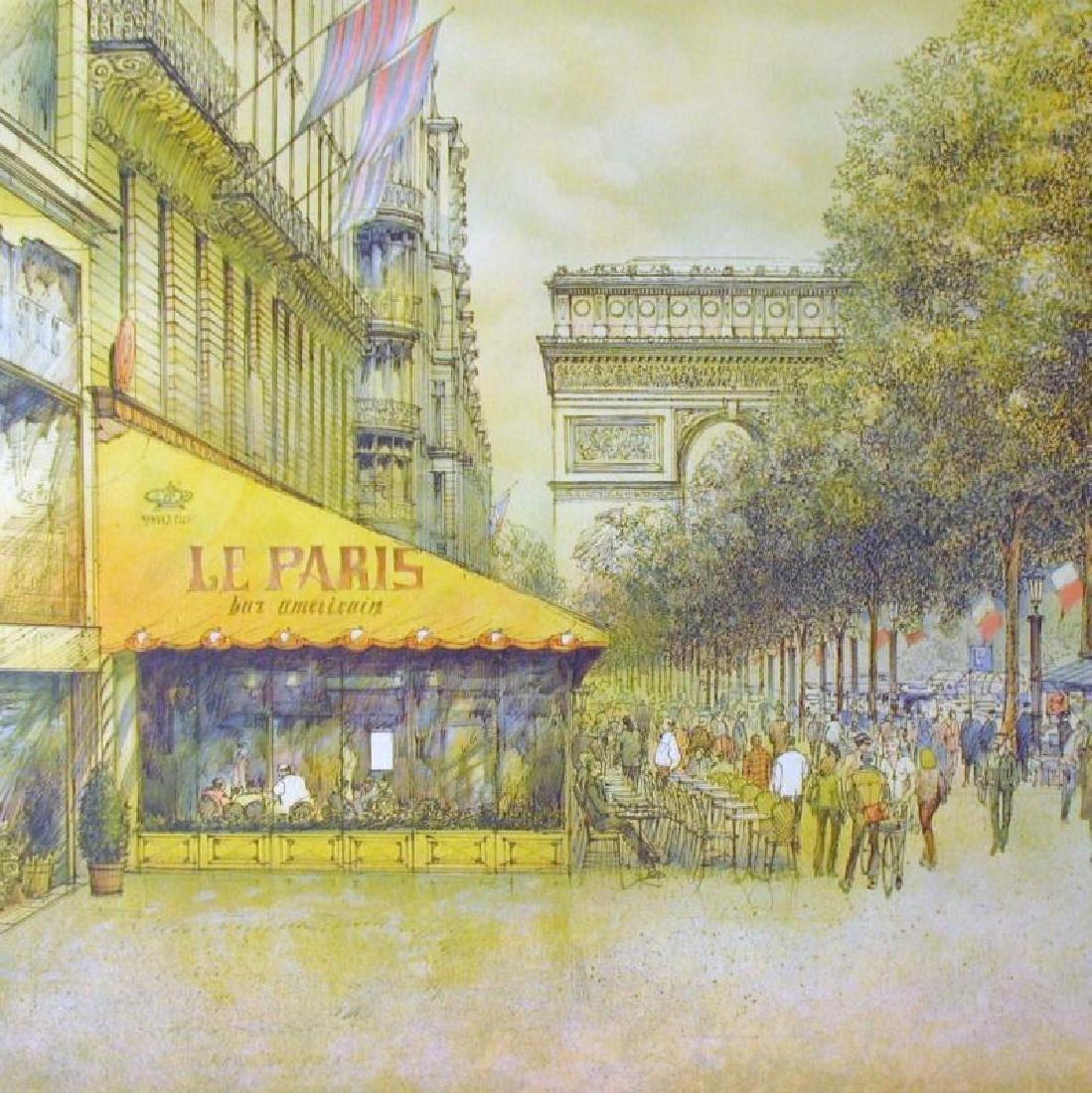 PARIS SCENE ARCHITECTUAL STYLE REALISTIC COLORFUL ART - 2
