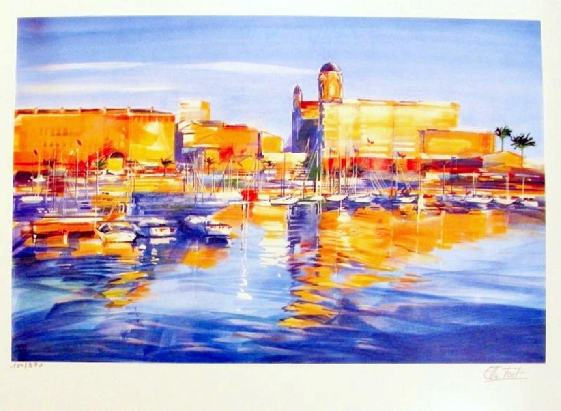 Harbor Scene Colorful Only $100 Below Wholesale - 2