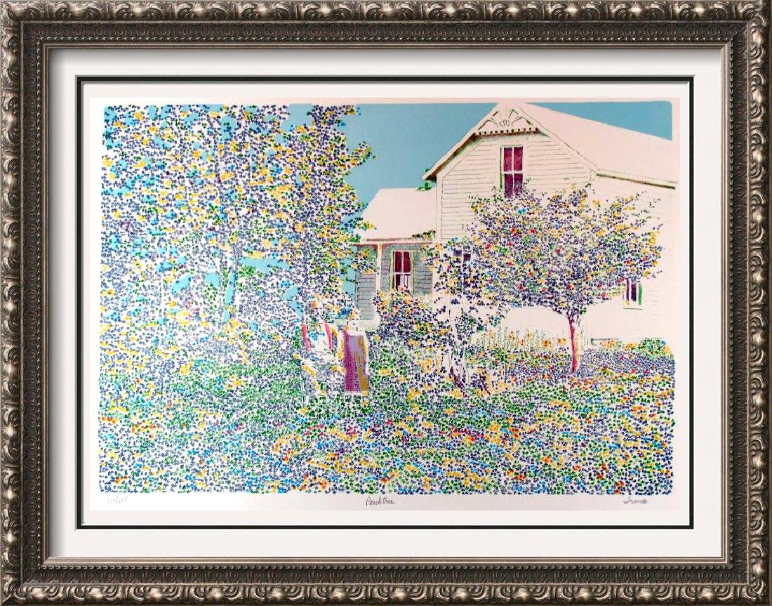 Pointellism Style Hand Signed Limited Edition White