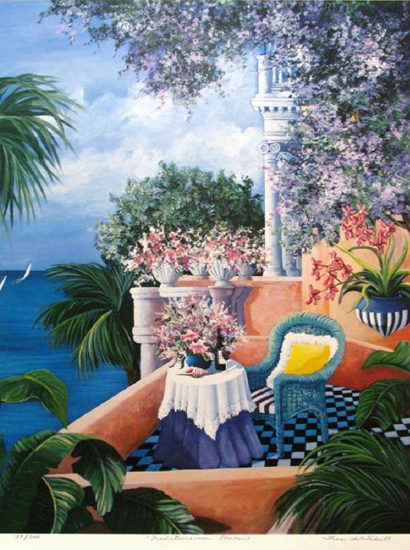 Signed Limited Edition Island Scene Colorful Balcony - 2