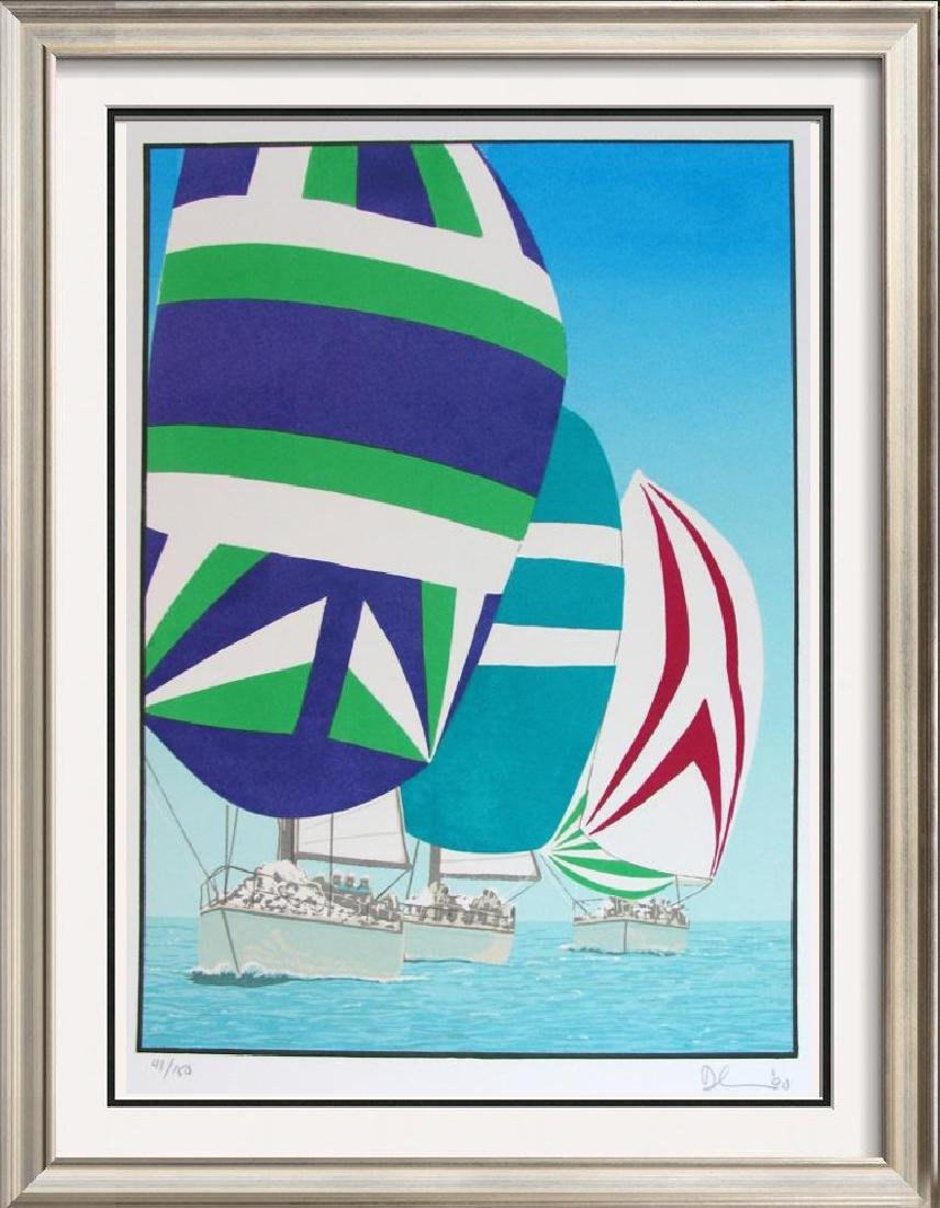 Fantastic Colorful Limited Edition Sailing Signed