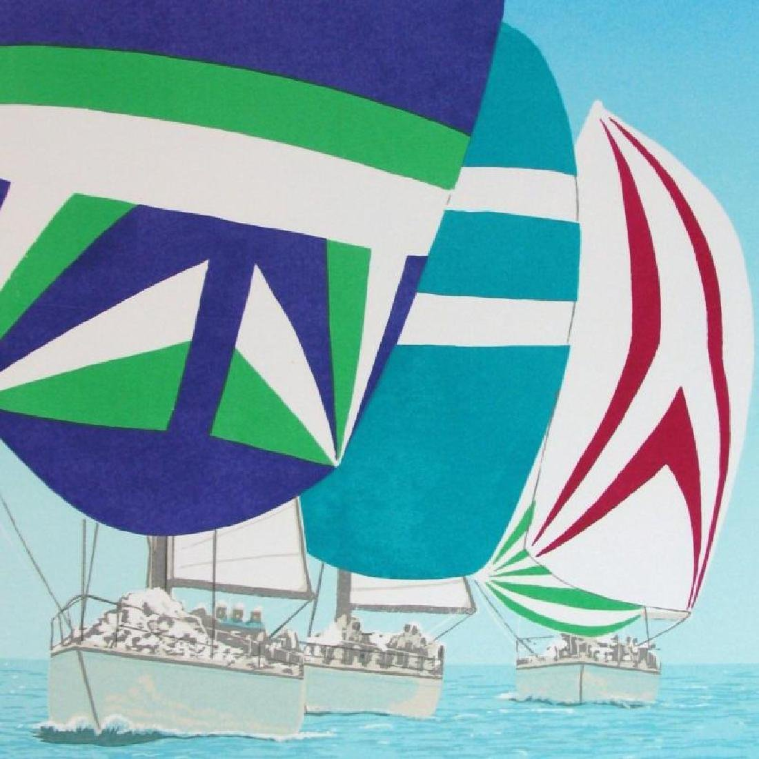 Fantastic Colorful Limited Edition Sailing Signed - 2