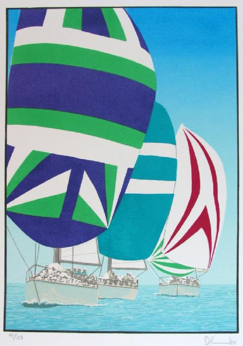 Fantastic Colorful Limited Edition Sailing Signed - 3