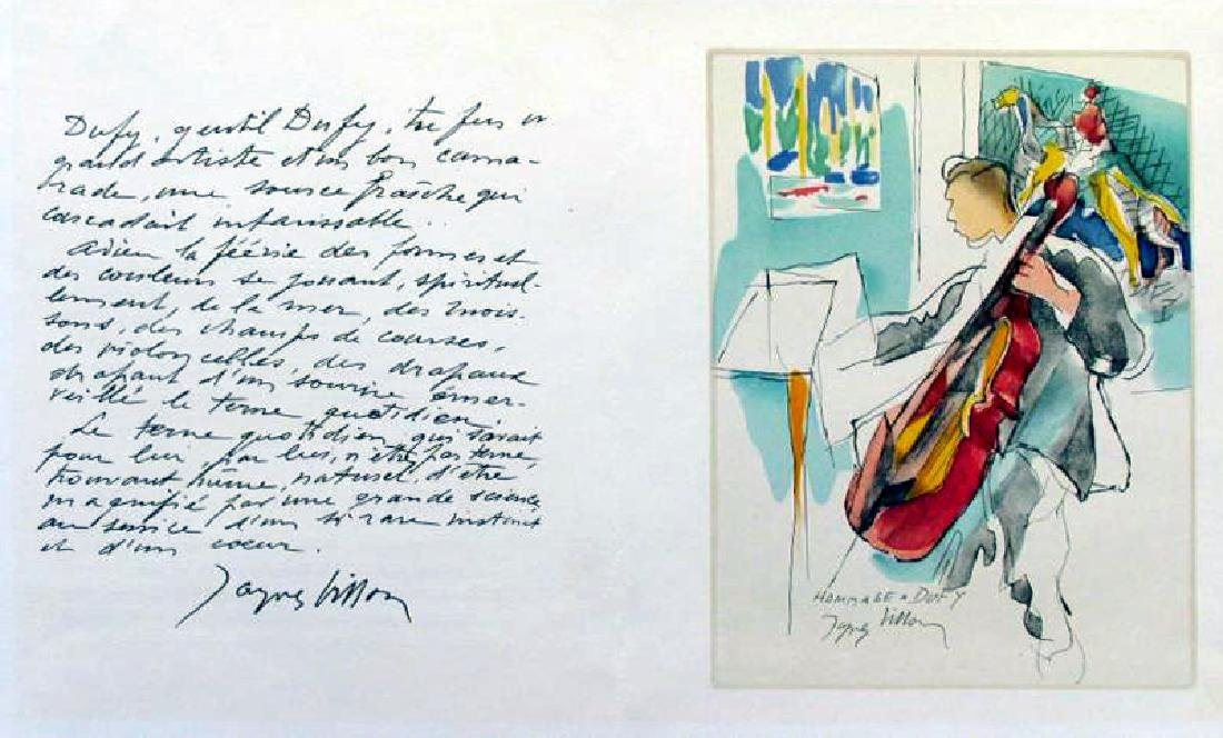 Jacques Villon Homage Dufy Plate Signed Litho - 2