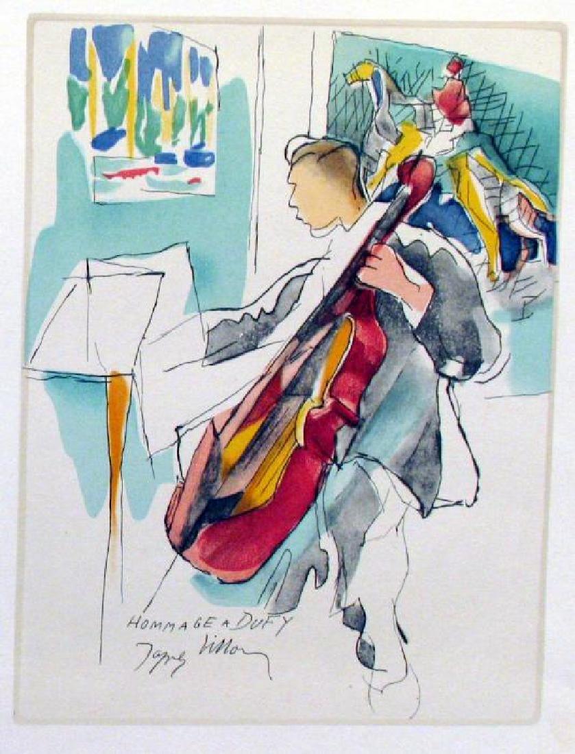 Jacques Villon Homage Dufy Plate Signed Litho - 3