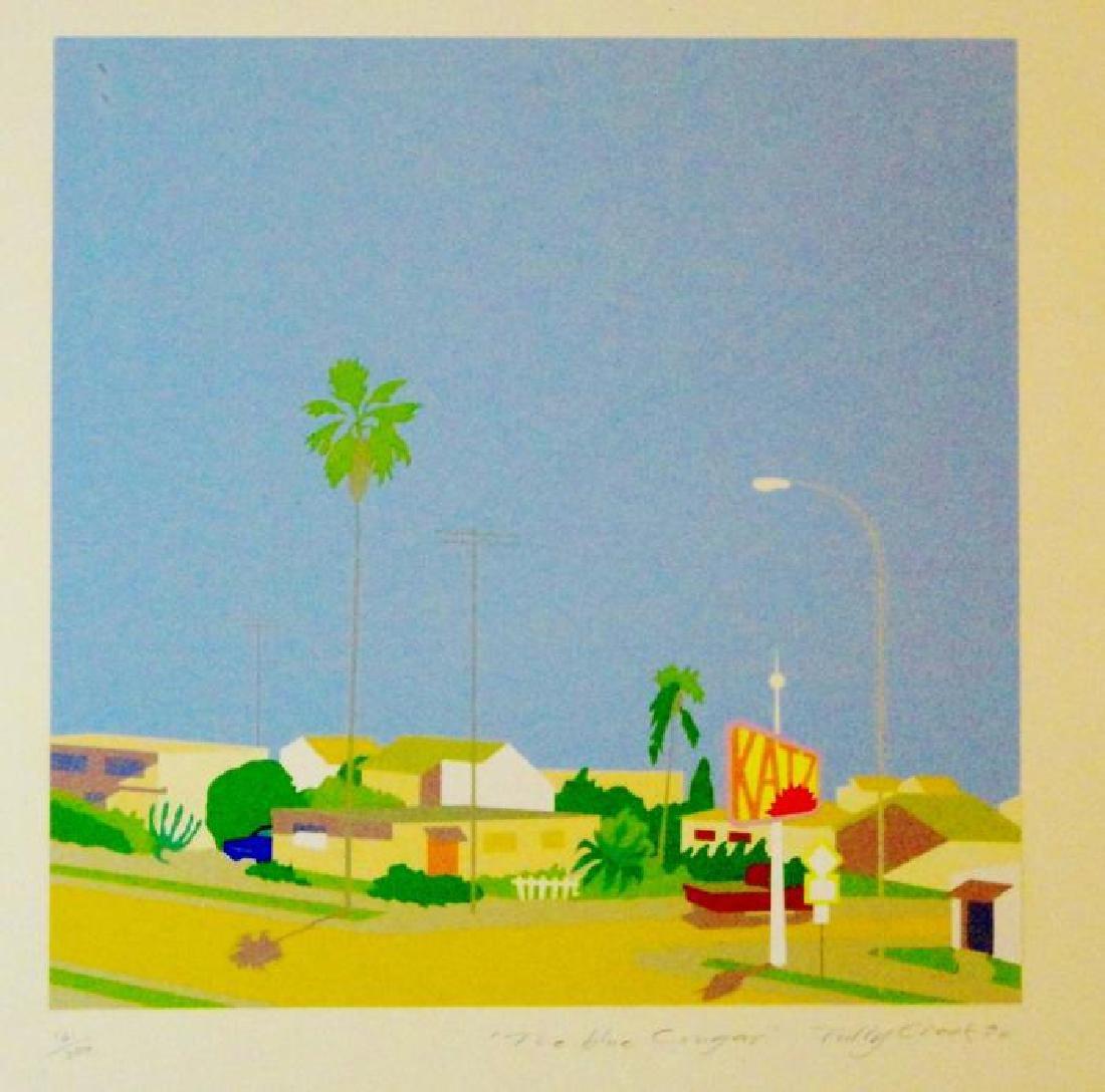 Deco Abstract Blue Cougar Ocean Scen Modern Ltd Ed - 2