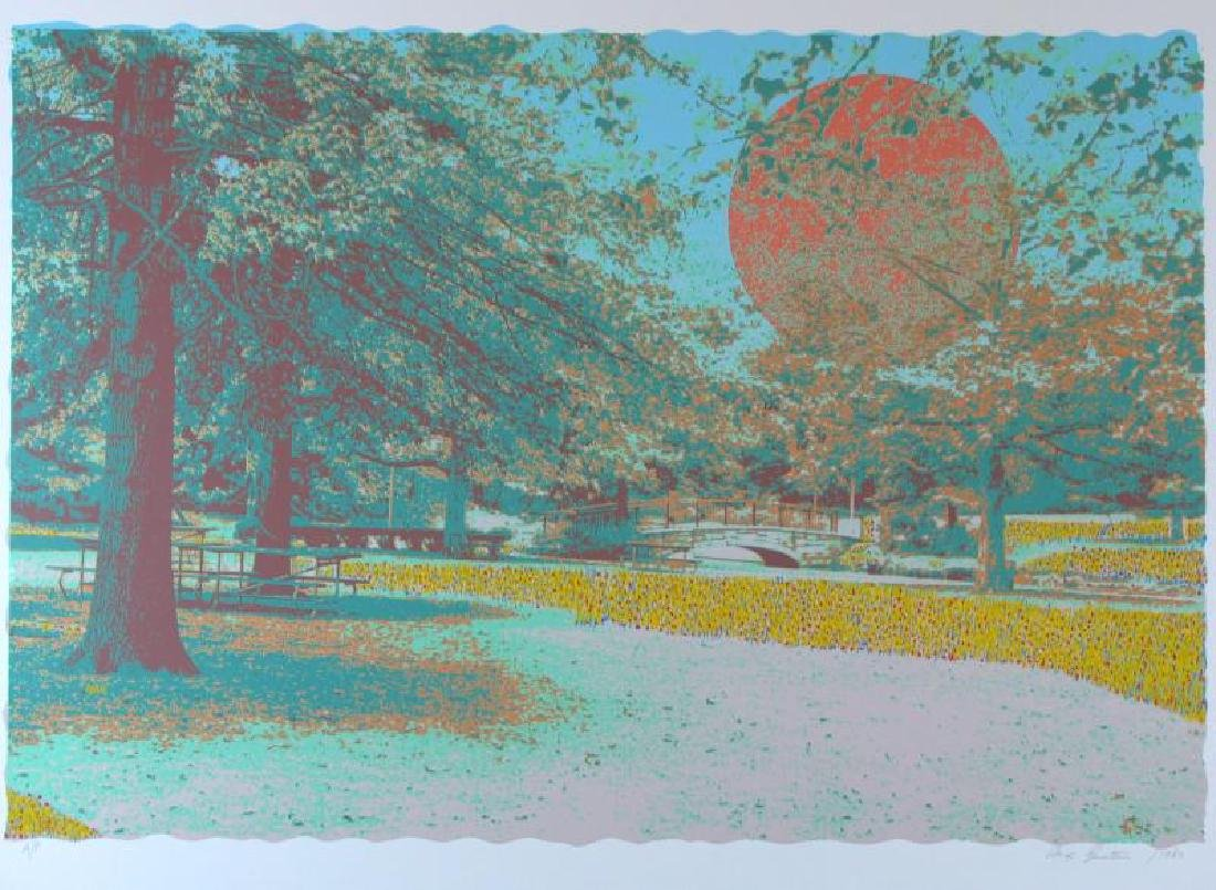 Pointellism Style Hand Signed Limited Edition Landscape - 2