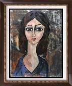 Swahn Original Painting on Canvas Modigliani Style