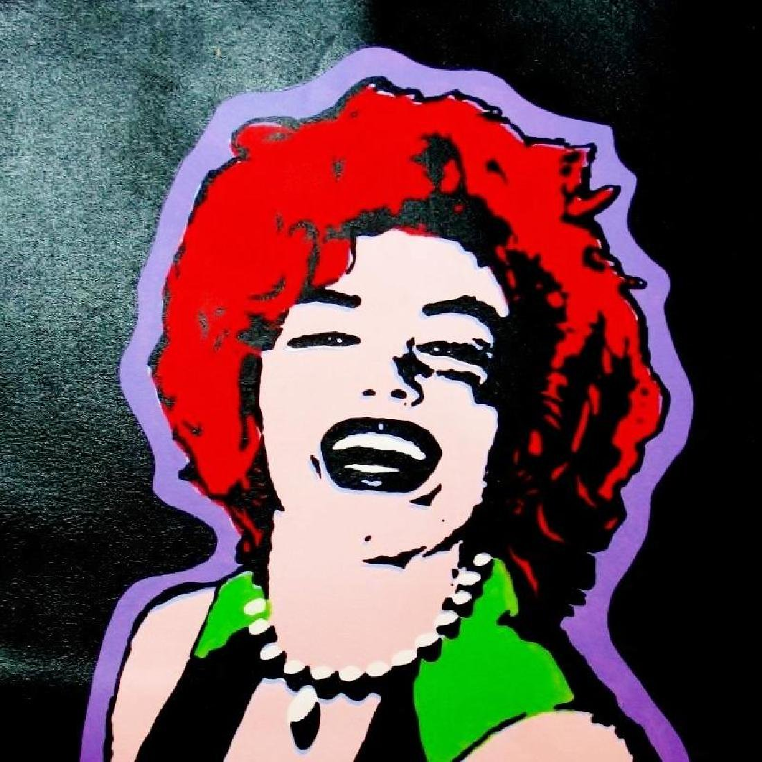 DRAMATIC COLORFUL POP STYLE MARILYN MONROE PAINTING - 3