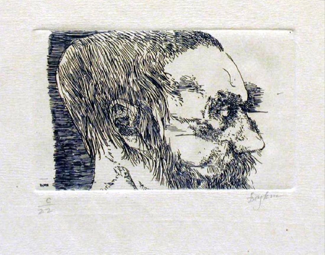Museum Artist Leonard Baskin Limited Edition Woodblock - 2