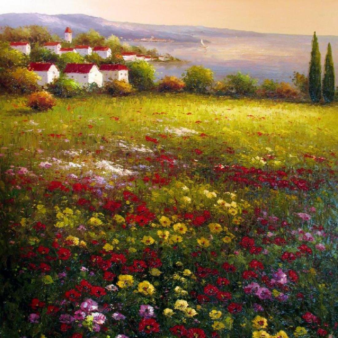 Floral Colorful Original Painting Dealer SALE Landscape - 2