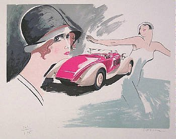 567A: Delage Lithograph Colorful Hand Signed Sale