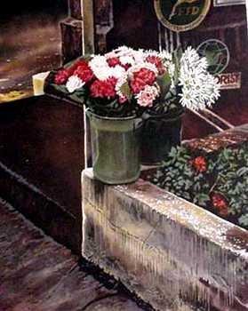 742A: Florist Colorful Ltd Ed Art Sale Dealer Selling O