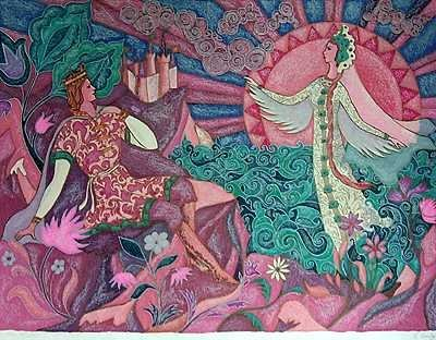 1079B: Swan Princess Colorful Limited Edition Sale $750