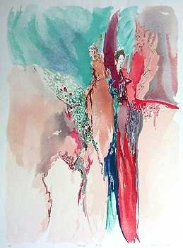 1255B: Tarkay colorful Style Artwork Bazinet Ltd Ed Sal