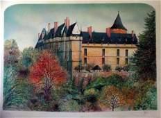 3312F European Castle Colorful Signed Ltd Ed Sale