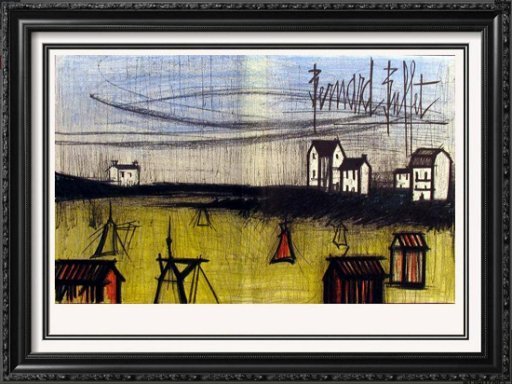 Terrific Bernard Buffet Original Colored Double Page Lithograph Aug Download Free Architecture Designs Sospemadebymaigaardcom