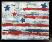 Patriot Series Swahn American Flag Original Canvas
