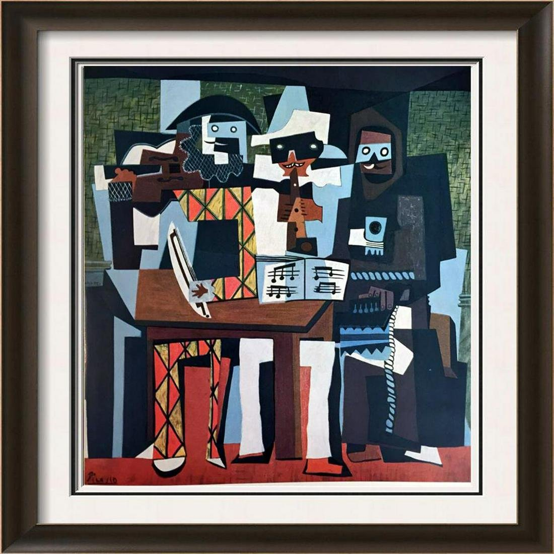 Pablo Picasso Three Musicians c.1921 Fine Art Print