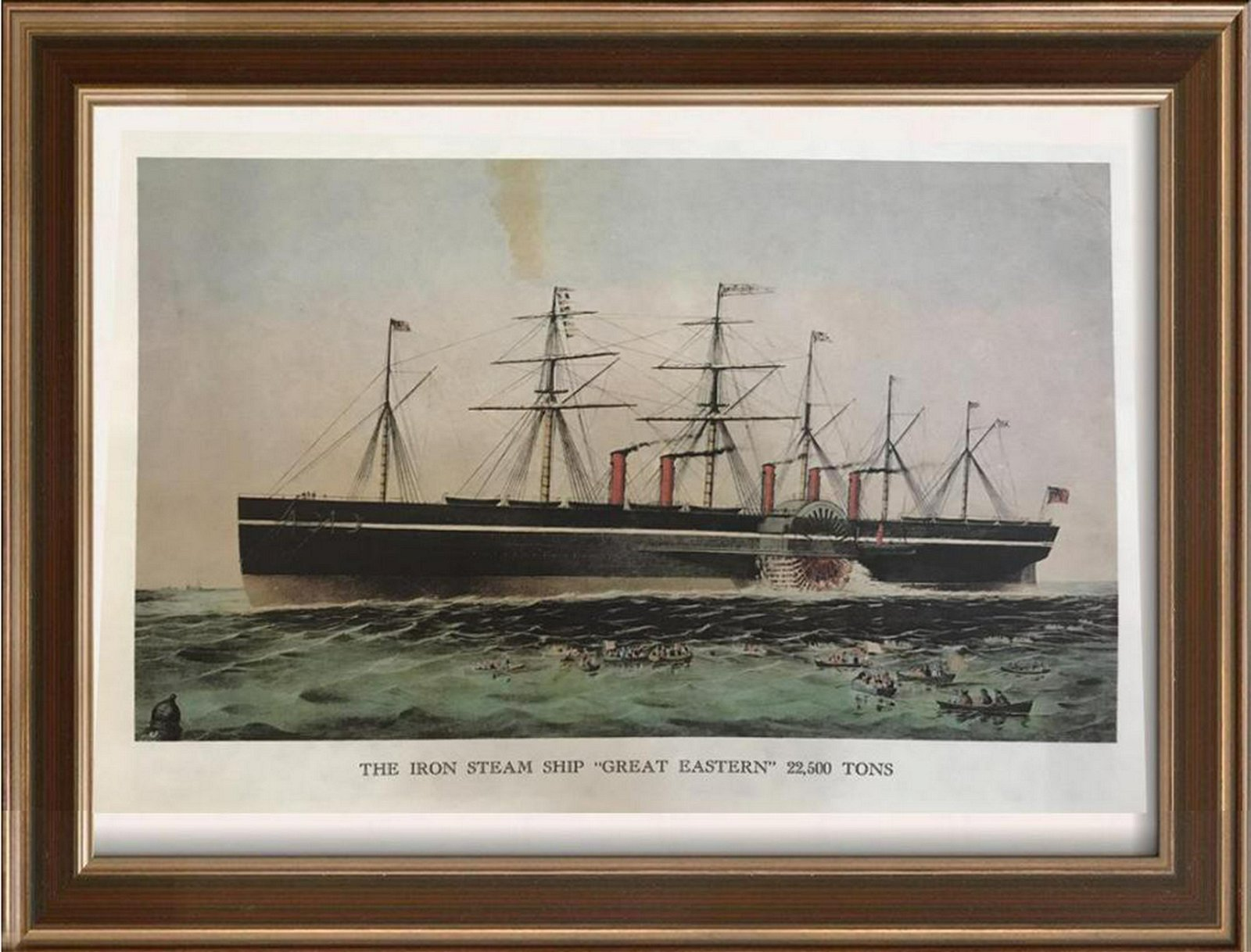 Steam Ships: The Iron Steam Ship Great Eastern 22,500