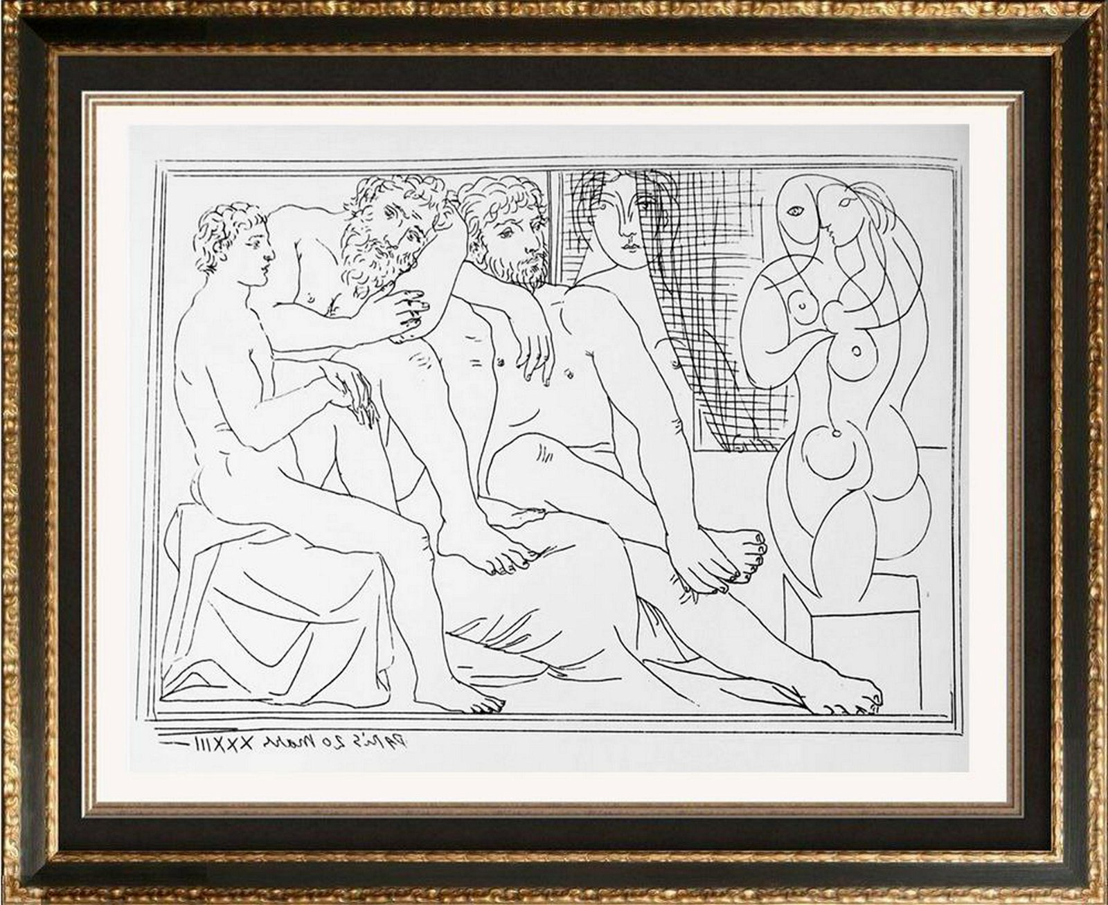 Pablo Picasso 'After'  Figures and a Statue c. 1933