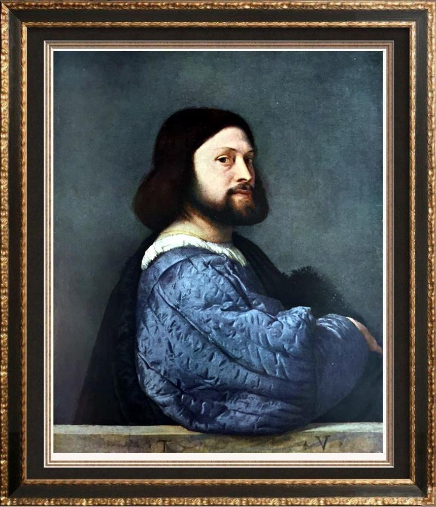 Tiziano Vecellio Titian Portrait of a Man (Ariosto)