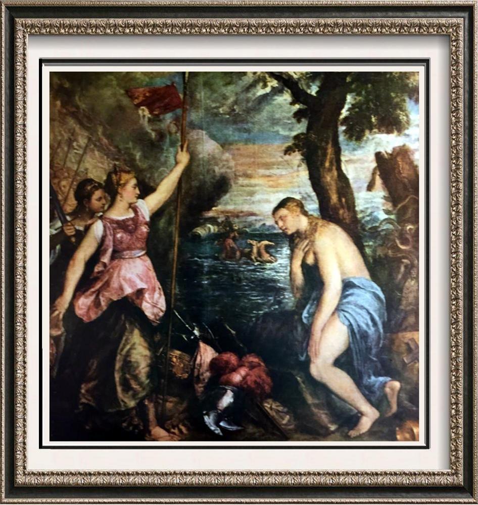 Tiziano Vecellio Titian Religion Succored by Spain