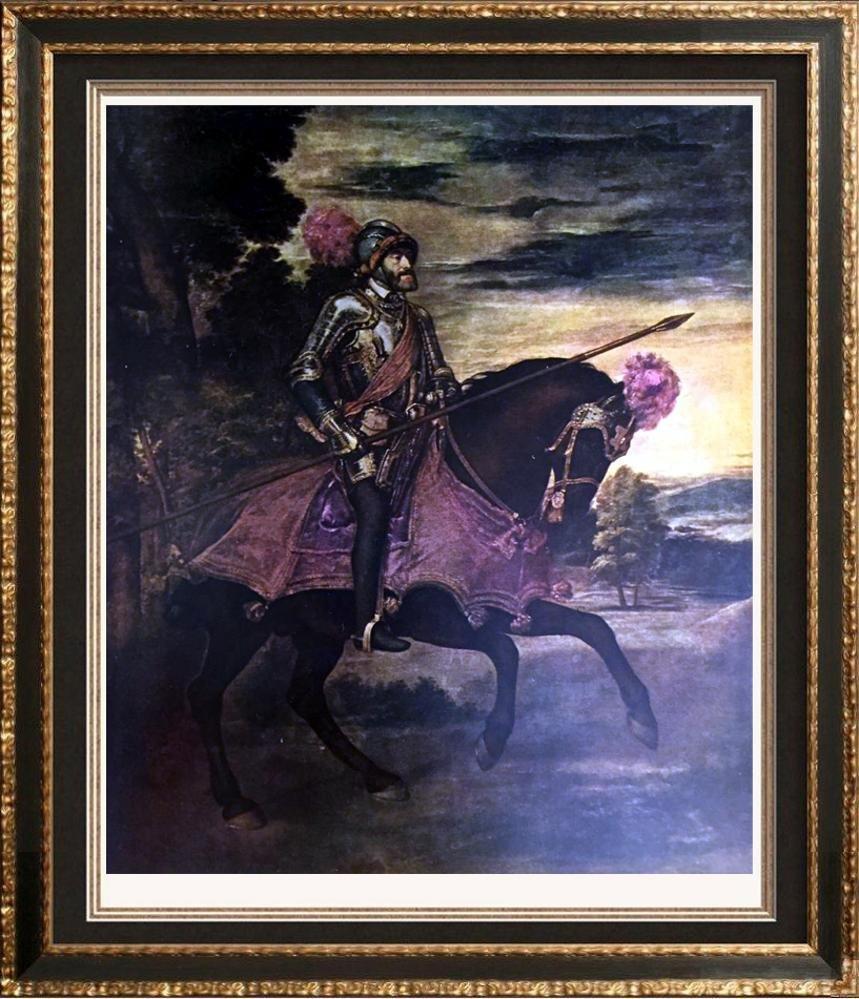 Tiziano Vecellio Titian Charles on Horseback at the